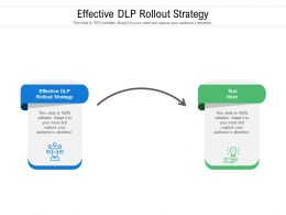 Effective DLP Rollout Strategy Ppt Powerpoint Presentation Inspiration Cpb