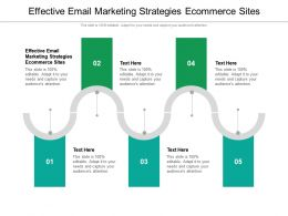 Effective Email Marketing Strategies Ecommerce Sites Powerpoint Presentation Infographics Cpb