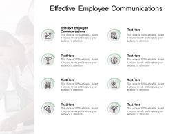 Effective Employee Communications Ppt Powerpoint Presentation Show Outline Cpb