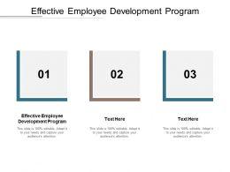 Effective Employee Development Program Ppt Powerpoint Presentation Gallery Slide Download Cpb