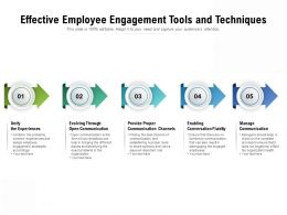 Effective Employee Engagement Tools And Techniques