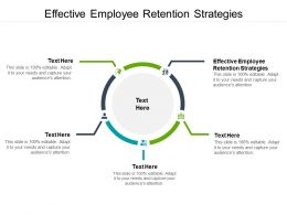 Effective Employee Retention Strategies Ppt Powerpoint Presentation Infographic Cpb
