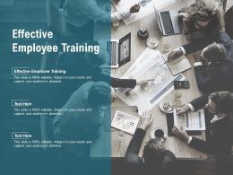 Effective Employee Training Ppt Powerpoint Presentation Gallery Show Cpb