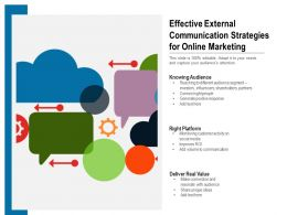 Effective External Communication Strategies For Online Marketing