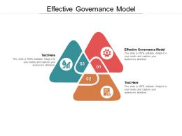 Effective Governance Model Ppt Powerpoint Presentation Slides Guidelines Cpb