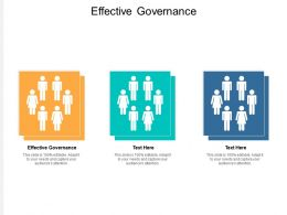 Effective Governance Ppt Powerpoint Presentation Infographics Topics Cpb