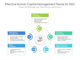 Effective Human Capital Management Trends For 2021