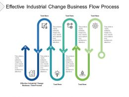 Effective Industrial Change Business Flow Process Ppt Portfolio Elements Cpb