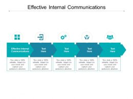 Effective Internal Communications Ppt Powerpoint Presentation Layouts Cpb