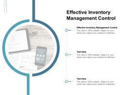 Effective Inventory Management Control Ppt Powerpoint Icon Layout Cpb