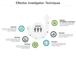 Effective Investigation Techniques Ppt Powerpoint Presentation Slides Samples Cpb