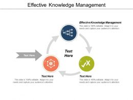 Effective Knowledge Management Ppt Powerpoint Presentation Gallery Gridlines Cpb