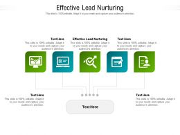 Effective Lead Nurturing Ppt Powerpoint Presentation Pictures Graphics Cpb