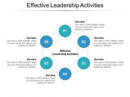 Effective Leadership Activities Ppt Powerpoint Presentation File Portrait Cpb