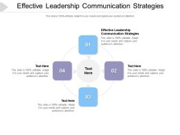 Effective Leadership Communication Strategies Ppt Powerpoint Presentation Infographic Template Cpb