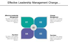 Effective Leadership Management Change Management Effective Leadership Employee Skill Cpb
