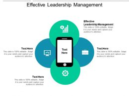 Effective Leadership Management Ppt Powerpoint Presentation Slides Show Cpb