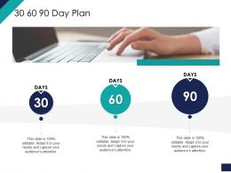 Effective Leadership Management Styles Approaches 30 60 90 Day Plan Ppt Slides Icons