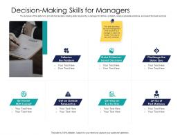 Effective Leadership Management Styles Approaches Decision Making Skills For Managers Ppt Icons