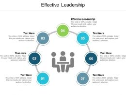 Effective Leadership Ppt Powerpoint Presentation Icon Diagrams Cpb