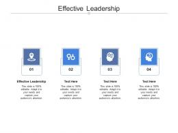 Effective Leadership Ppt Powerpoint Presentation Introduction Cpb
