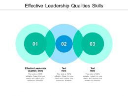 Effective Leadership Qualities Skills Ppt Powerpoint Presentation Infographic Template Microsoft Cpb
