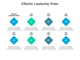 Effective Leadership Roles Ppt Powerpoint Presentation Layouts Background Cpb