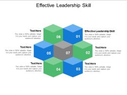 Effective Leadership Skill Ppt Powerpoint Presentation Summary Professional Cpb