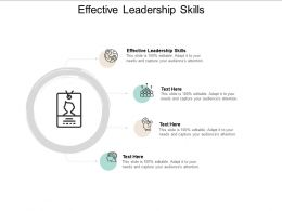 Effective Leadership Skills Ppt Powerpoint Presentation Slides Background Cpb