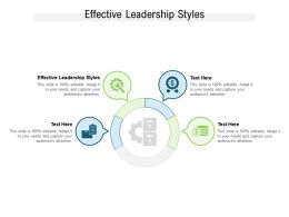 Effective Leadership Styles Ppt Powerpoint Presentation Slides Deck Cpb