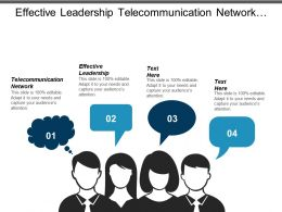 Effective Leadership Telecommunication Network Social Media Marketing Product Development Cpb
