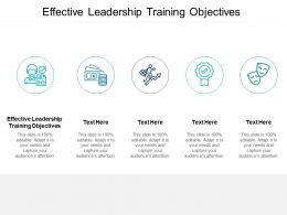 Effective Leadership Training Objectives Ppt Powerpoint Presentation Layouts Layouts Cpb