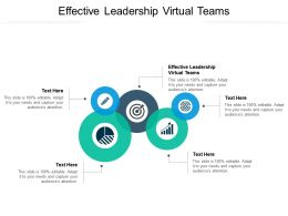 Effective Leadership Virtual Teams Ppt Powerpoint Presentation Portfolio Good Cpb