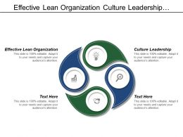 Effective Lean Organization Culture Leadership Value Based Steering