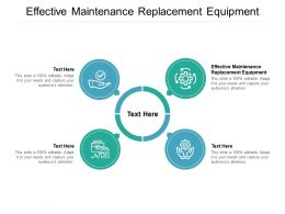 Effective Maintenance Replacement Equipment Ppt Powerpoint Presentation Ideas Files Cpb