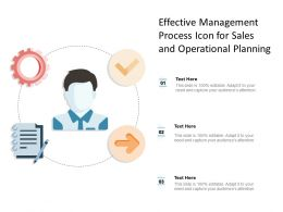 Effective Management Process Icon For Sales And Operational Planning