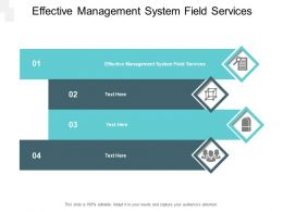 Effective Management System Field Services Ppt Powerpoint Presentation Pictures Vector Cpb