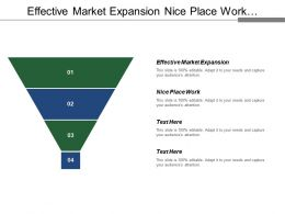 Effective Market Expansion Nice Place To Work Marketing Budget