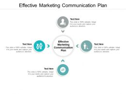 Effective Marketing Communication Plan Ppt Powerpoint Presentation File Cpb