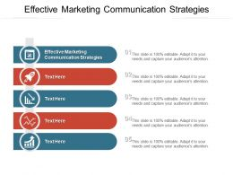 Effective Marketing Communication Strategies Ppt Powerpoint Presentation Layouts Examples Cpb
