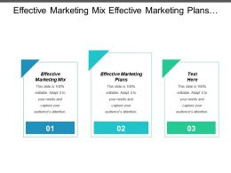 Effective Marketing Mix Effective Marketing Plans Service Management Operations Cpb