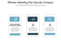 Effective Marketing Plan Security Company Ppt Powerpoint Presentation File Cpb