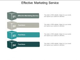 Effective Marketing Service Ppt Powerpoint Presentation Slides Example Topics Cpb