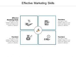 Effective Marketing Skills Ppt Powerpoint Presentation Gallery Inspiration Cpb