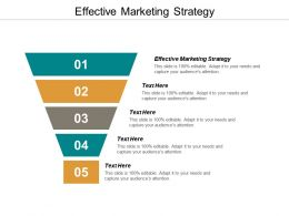 Effective Marketing Strategy Ppt Powerpoint Presentation Inspiration Model Cpb