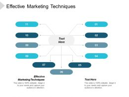 Effective Marketing Techniques Ppt Powerpoint Presentation Infographic Template Rules Cpb