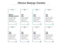 Effective Meetings Checklist Ppt Powerpoint Presentation File Graphics Cpb