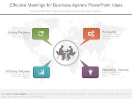 Effective Meetings For Business Agenda Powerpoint Ideas