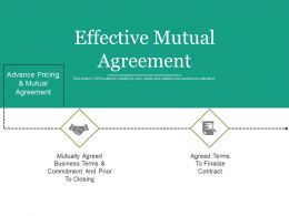 Effective Mutual Agreement Ppt Background