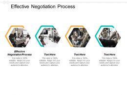 Effective Negotiation Process Ppt Powerpoint Presentation File Pictures Cpb